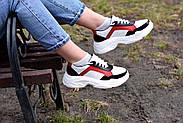 Женские кроссовки Destra красно-белые с натуральной кожи, фото 10