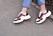 Женские кроссовки Destra красно-белые с натуральной кожи, фото 8