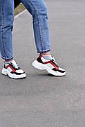 Женские кроссовки Destra красно-белые с натуральной кожи, фото 7