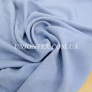 Ткань штапель вискоза плотный голубой