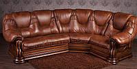 """Угловой диван """"Гризли"""" в классическом стиле из натурального дерева под заказ, из массива дерева"""