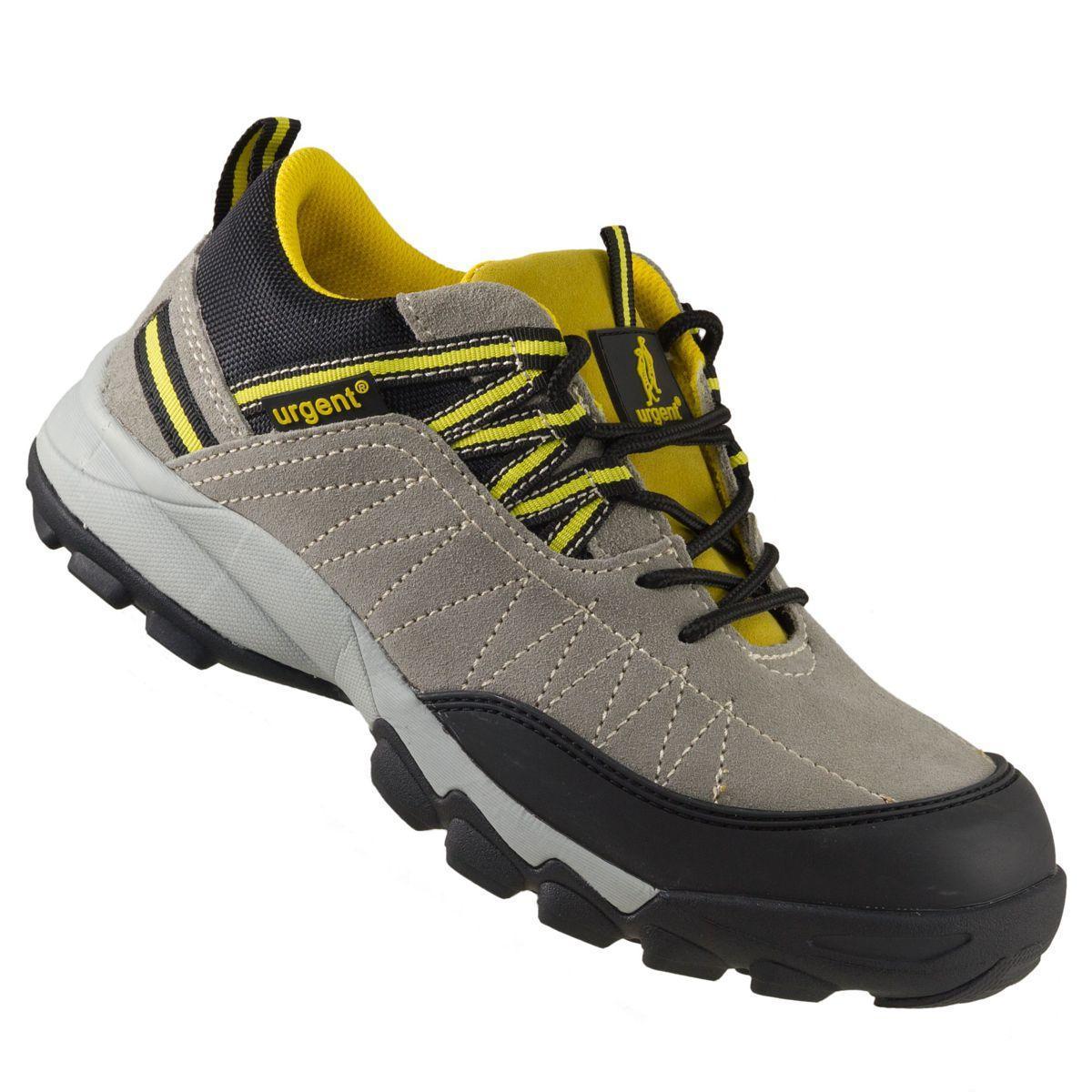 Кроссовки 234 S1 защитые с металлическим носком, черно-бежевого цвета.  URGENT (POLAND)  43