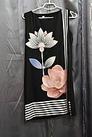 Платье лотос черный вискоза 1099-3 Fashion Girl Украина