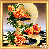 """Набор для вышивки бисером """"Лунные розы"""""""