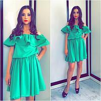 Шифоное летнее платье