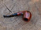 Курительная трубка KAF229 Шерлок Холмс Bent из дерева груши под фильтр 9 мм, фото 7