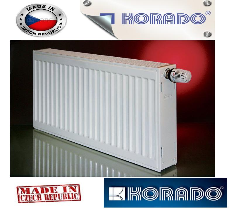 Стальной Радиатор отопления (батарея) 300x1400 тип 22 Korado Radik (боковое подключение)