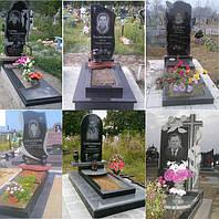 Бюджетные памятники с полочкой на могилу из гранита.