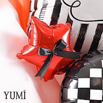 Букет Happy birthday в красно-черных цветах для мужчины, фото 3