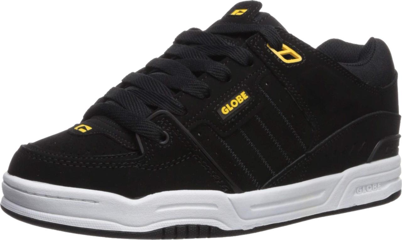 5cf4ec596a4e8 Кроссовки/Кеды (Оригинал) Globe Fusion Black Action Nubuck/Yellow Synthetic  Nubuck, ...