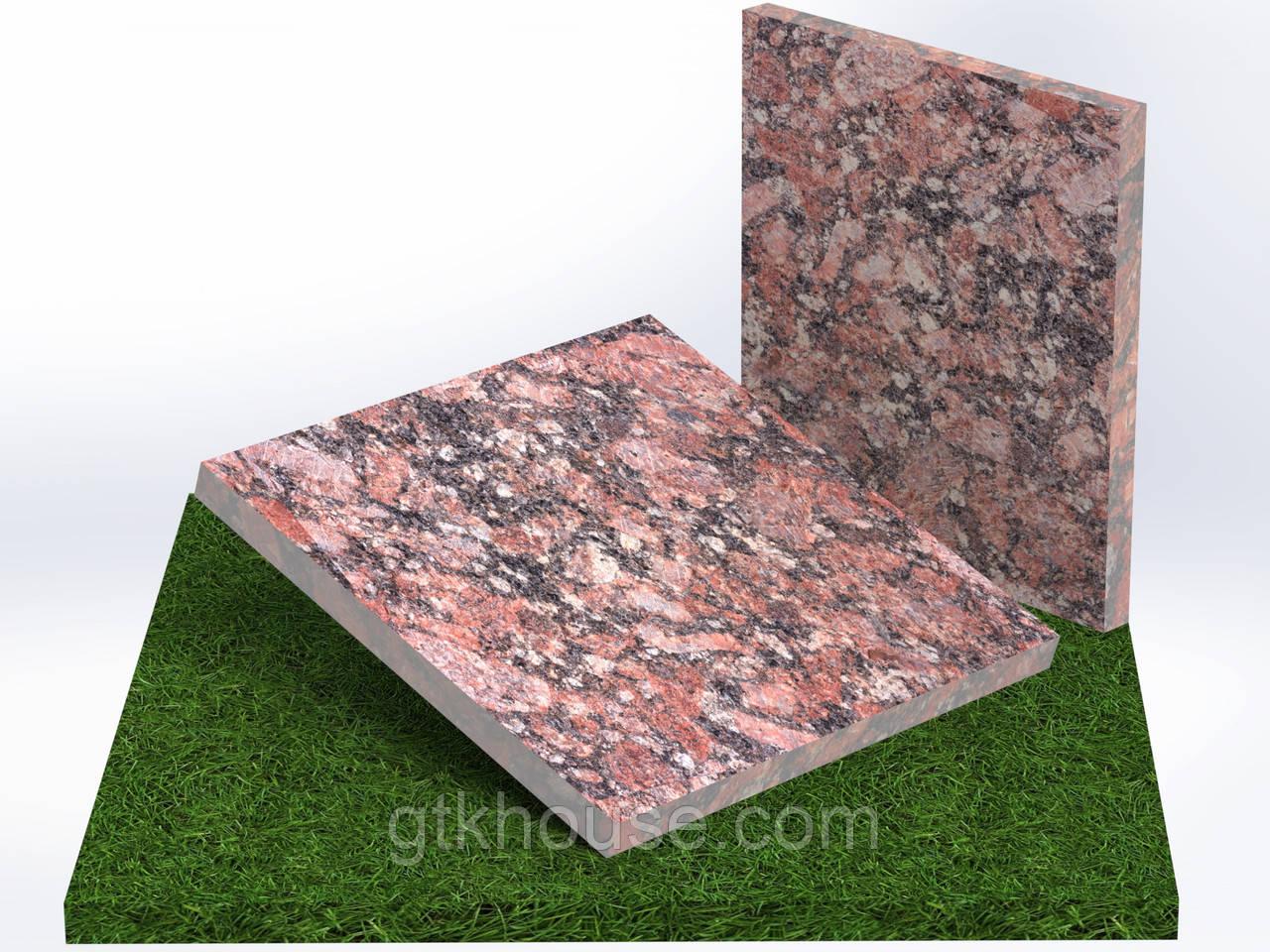 Плитка гранитная термообработанная Капустинская (Размер 300×300)