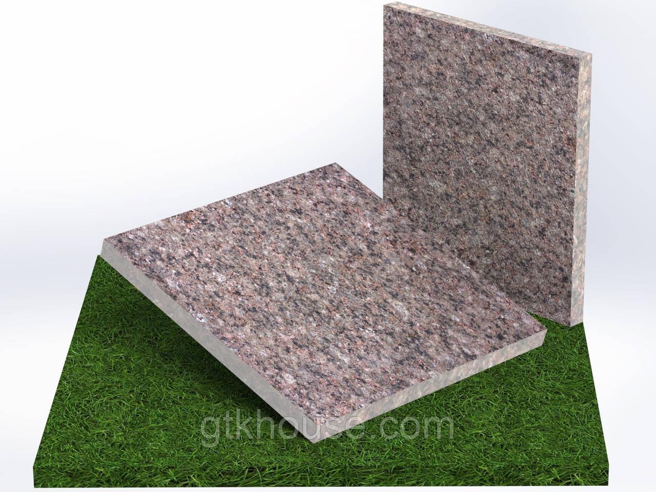 Плитка гранитная термообработанная  Васильевская (Размер 300×300)