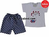 Футболка+шорты на девочку 1,2,3 лет, фото 2