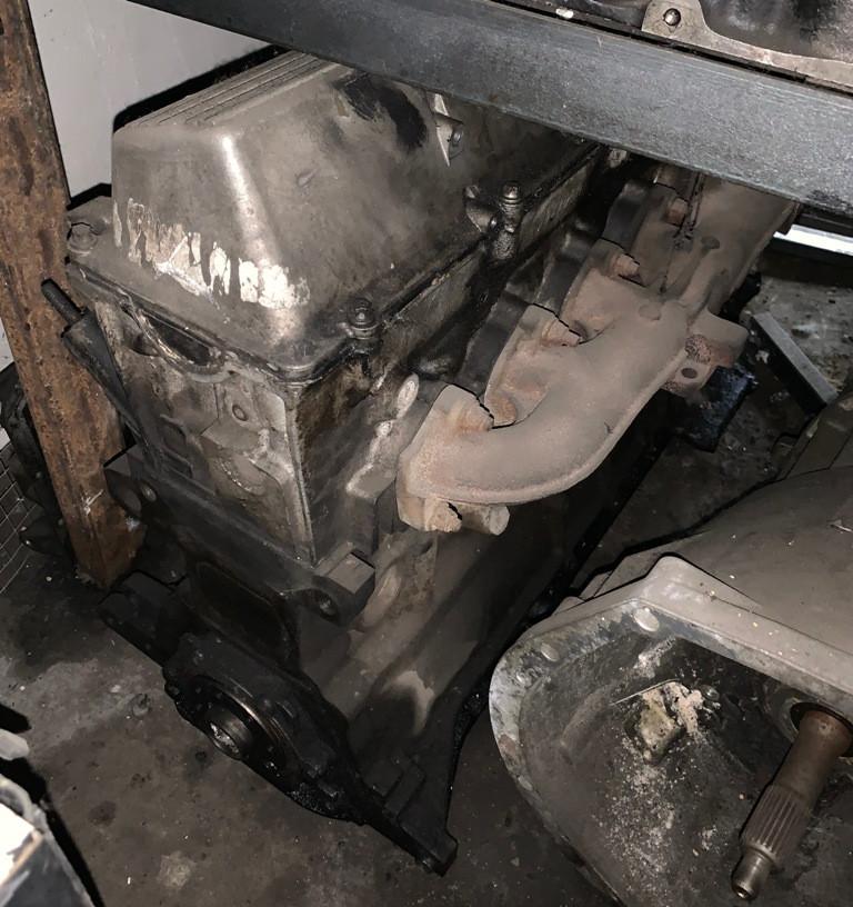 Двигатель б/у BMW 525D E34 M51 на запчасти