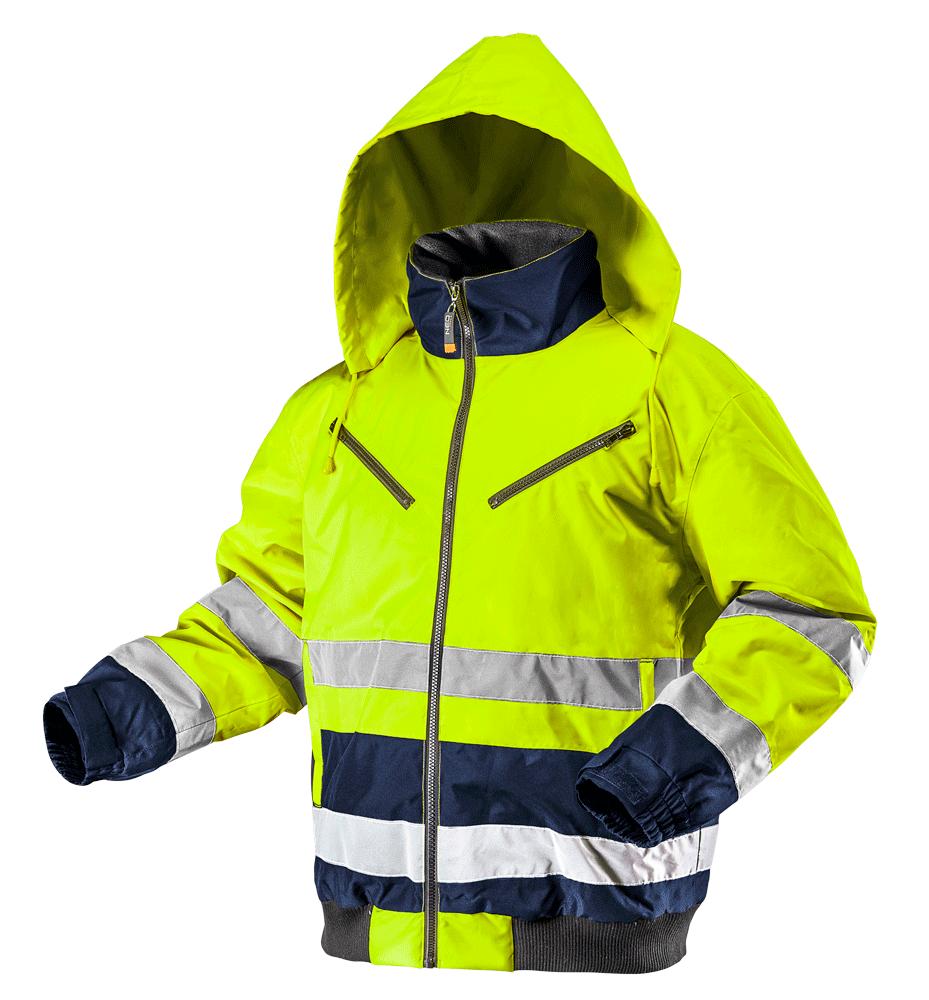 Утепленная рабочая сигнальная куртка 81710 желтого цвета NEO TOOLS S
