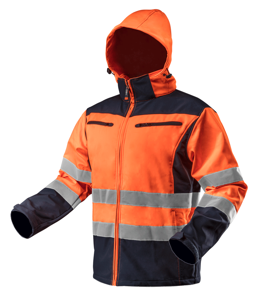 Куртка рабочая 81701 сигнальная softshell с капюшоном NEO TOOLS L