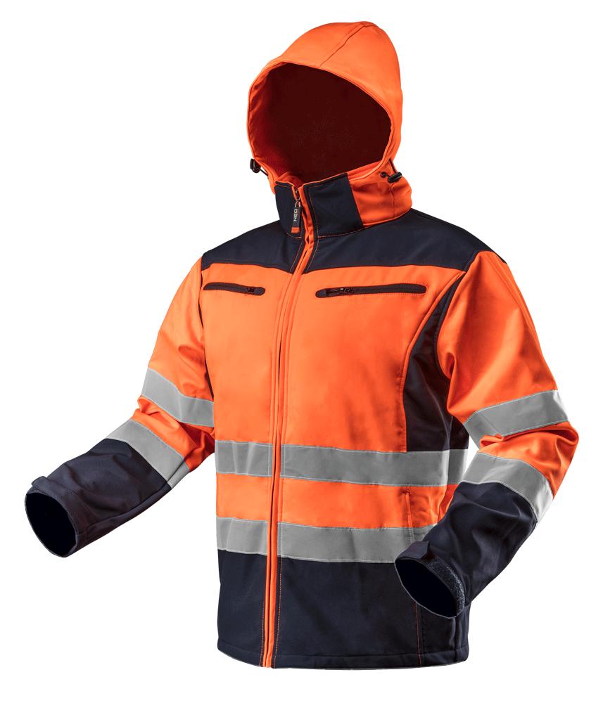 Куртка рабочая 81701 сигнальная softshell с капюшоном NEO TOOLS XXL