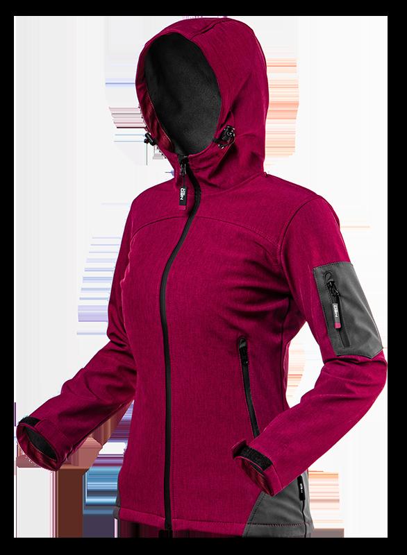 Куртка женская 80550, из высококачественного материала softshell, с капюшоном NEO TOOLS S