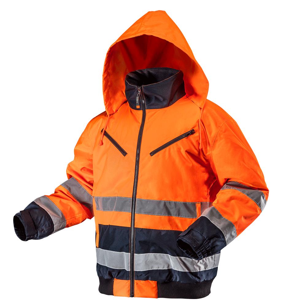 Утепленная рабочая сигнальная куртка 81711, оранжевого цвета NEO TOOLS XXL