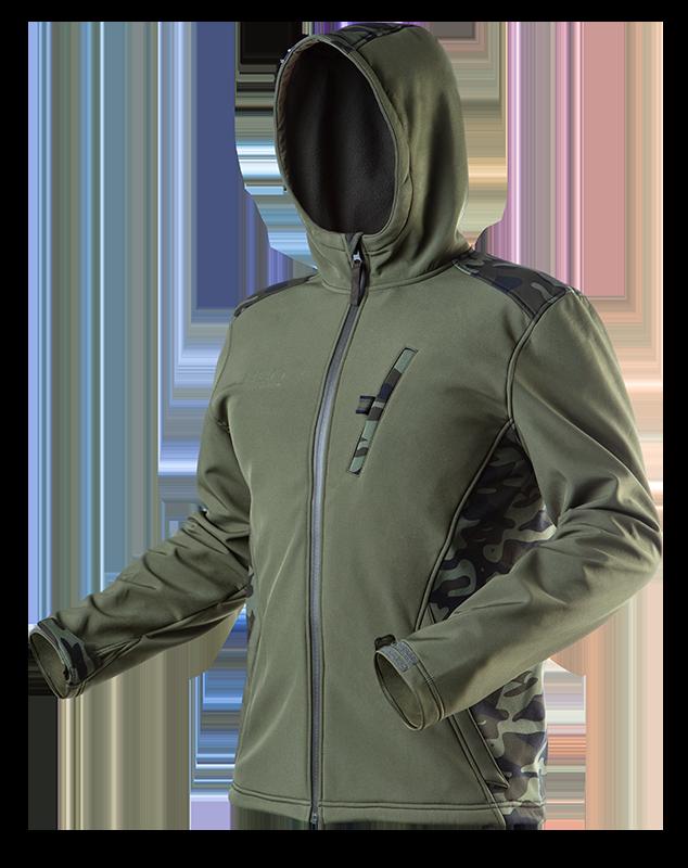 Куртка 81553 сшита из высококачественного материала softshell, с капюшоном NEO TOOLS