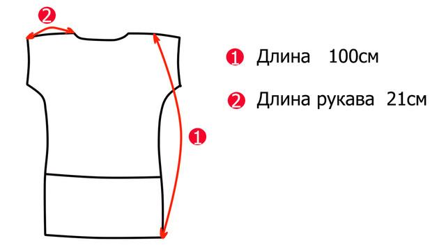 Основные замеры трикотажных летних платьев больших размеров