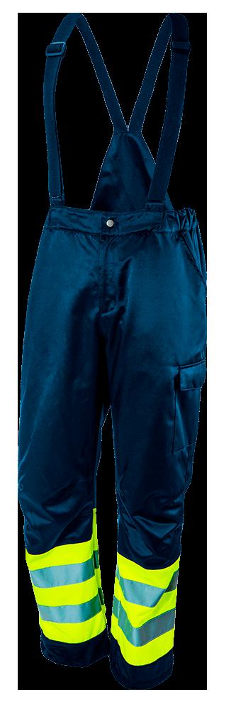Полукомбинезон рабочий 81779, сигнальный, синий со световозвращающими элементами NEO TOOLS S