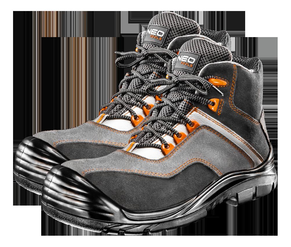 Рабочие ботинки 82060, замшевые, водостойкие, без металлических элементов NEO TOOLS 45