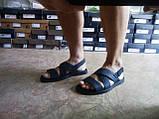 Стильные чёрные кожаные сандалии с теснением Rondo, фото 7