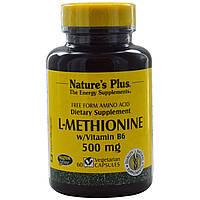 L-метионин (L-Methionine)  Nature's Plus 500 мг 60 капсул