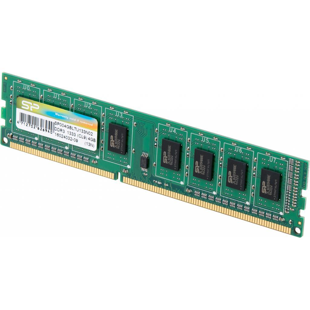 "Оперативная память Silicon Power DDR3-1333 4096MB PC3-10600 (SP004GBLTU133N02) ""Over-Stock"" Б/У"