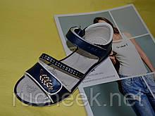 Синие босоножки на девочку размер 36 стелька 23см. Clibee