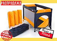 Складной Детский Манеж - Кроватка MOOLINO FUN P900 Оранжевый (Польша)