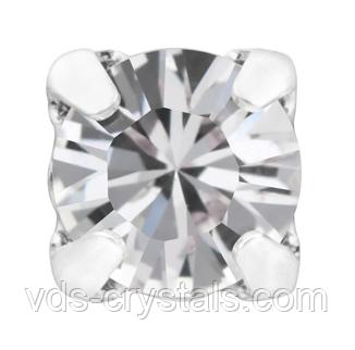 Стразы в серебряных цапах Swarovski 17704 пришивные Crystal ss29