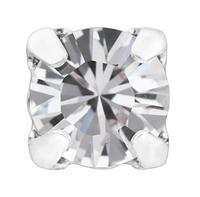 Стразы в серебряных цапах Swarovski 17704 пришивные Crystal