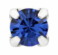 Стразы в серебряных цапах Swarovski 17704 пришивные Sapphire