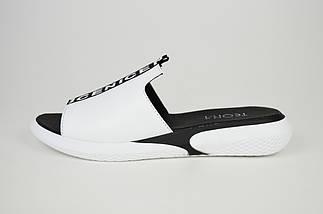 Шльопанці білі шкіряні Teona 160, фото 2