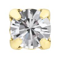 Стразы в золотых цапах Swarovski 17704 пришивные Crystal