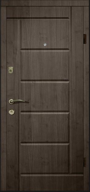 Двери квартирные, серия Элит Т-13, модель 116, гнутый профиль, коробка 130 мм, полотно 100мм, Securemme