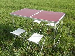 Стол раскладной и 4 стула для пикника