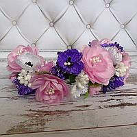 Ободок Атласна квітка (ліловий)