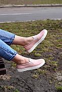 Женские кеды Destra слипоны пудра с натуральной кожи, фото 4