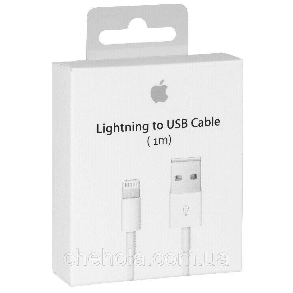 Кабель оригинал Apple Foxconn для Iphone 5 6 7 8 X XS XR Ipad Air Pro Mini Lightning 1м MFI MD818ZM/A A1480