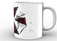 Кружка GeekLand белая  Resident Evil Обитель зла корпорация лого RE.02.006