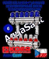 """Koer KR.1110-06 1""""x6 WAYS колекторний блок з витратомірами"""