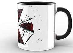 Кружка GeekLand белая  Resident Evil Обитель зла корпорация лого RE.02.006 Черная
