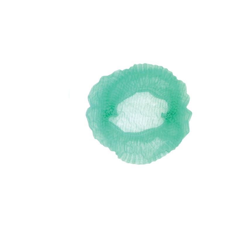 Шапочка одноразовая зеленая Одуванчик 100 шт уп