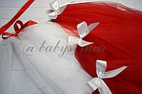 Фата кольорова для дівич-вечора класична червона