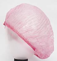 Шапочка одноразовая розовая Одуванчик 100 шт уп