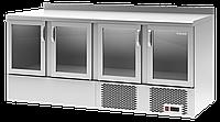 Барный холодильный стол Polair TDi4-G со стеклянными дверями и нижним агрегатом