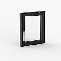 "Дверца для камина Ognevoda 300×350 мм, стекло ""плазма""(нар), ручка Nero"